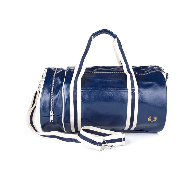 Fred Perry Navy Classic Barrel Bag