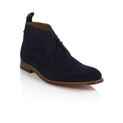 Grenson Navy Suede Marcus Boots