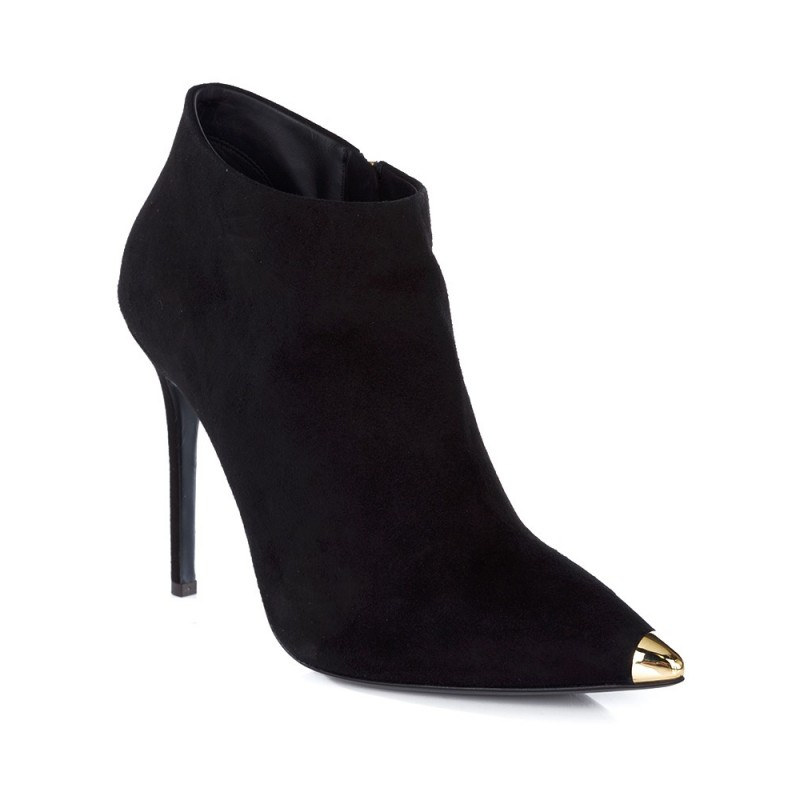 Giuseppe Zanotti Black Gold Toed Boot