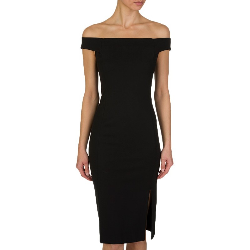 Polo Ralph Lauren Black Off Shoulder Dress