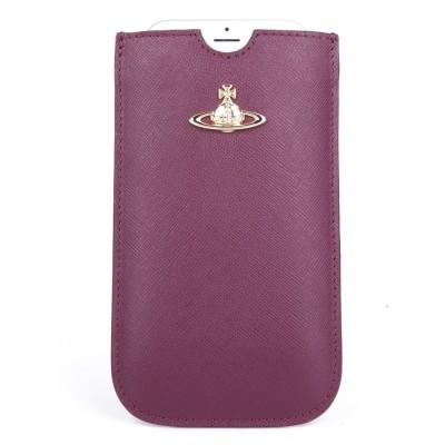 Vivienne Westwood Burgundy Opio Saffiano Phone Case