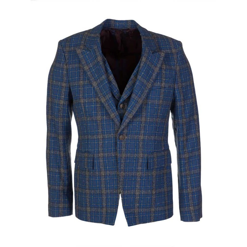 Vivienne Westwood Blue Tartan Jacket and Waistcoat