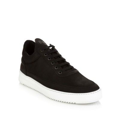 Filling Pieces Black Low Top Fundament Ripple Trainers