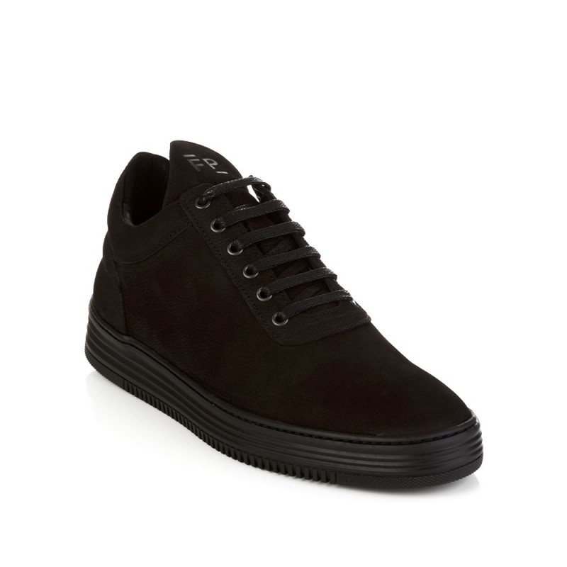 Filling Pieces Black Low Top Flush Trainers