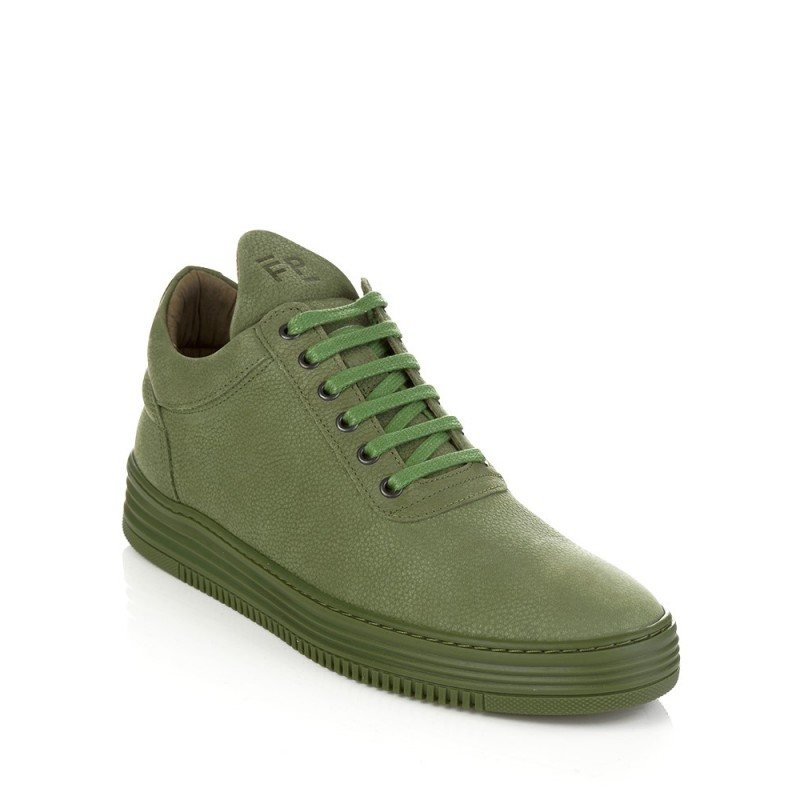 Filling Pieces Green Low Top Flush Trainers