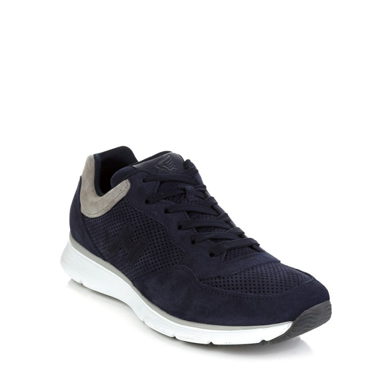 Hogan Navy Traditional Suede Trainers