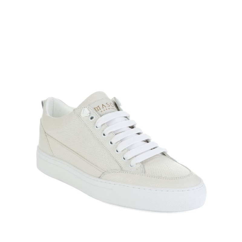 Mason Garments White Low Top Tia Iguana Trainers