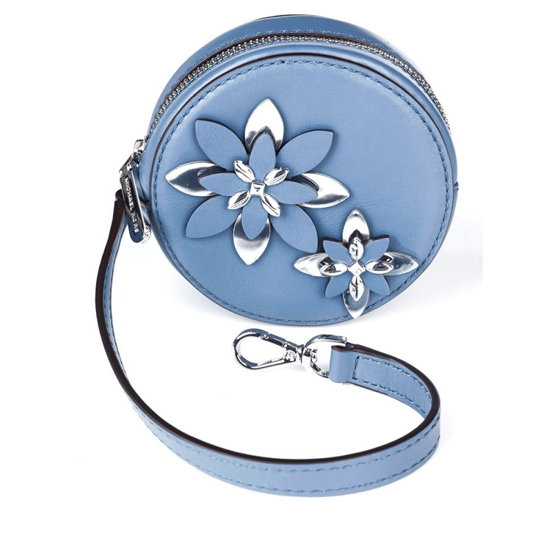 Michael Kors Denim Blue Floral Coin Purse