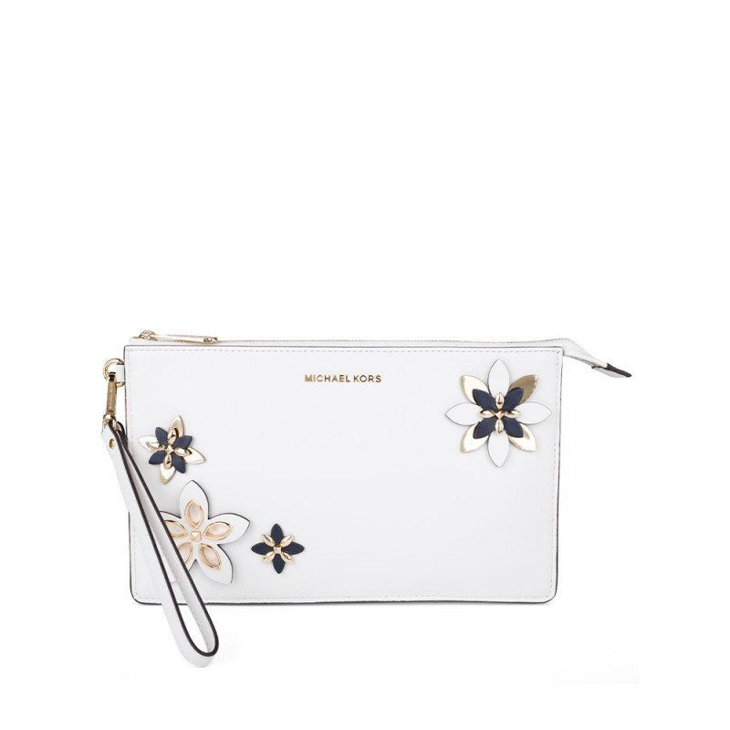 Michael Kors Optic White Daniela Clutch Bag