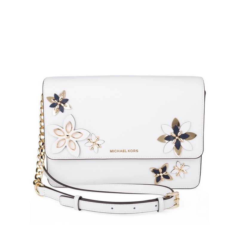 Michael Kors Optic White Daniela Crossbody Bag