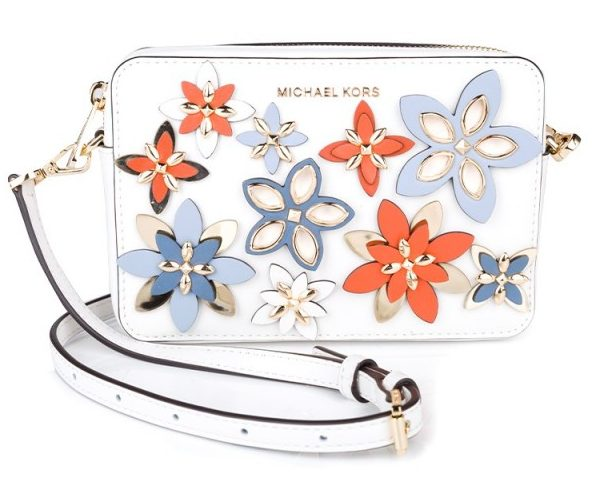 Michael Kors Optic White Floral Camera Bag