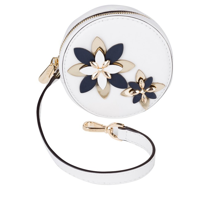 Michael Kors Optic White Floral Coin Purse