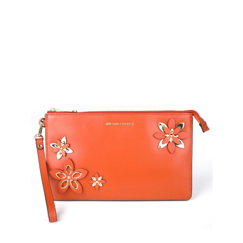 Michael Kors Orange Daniela Clutch Bag