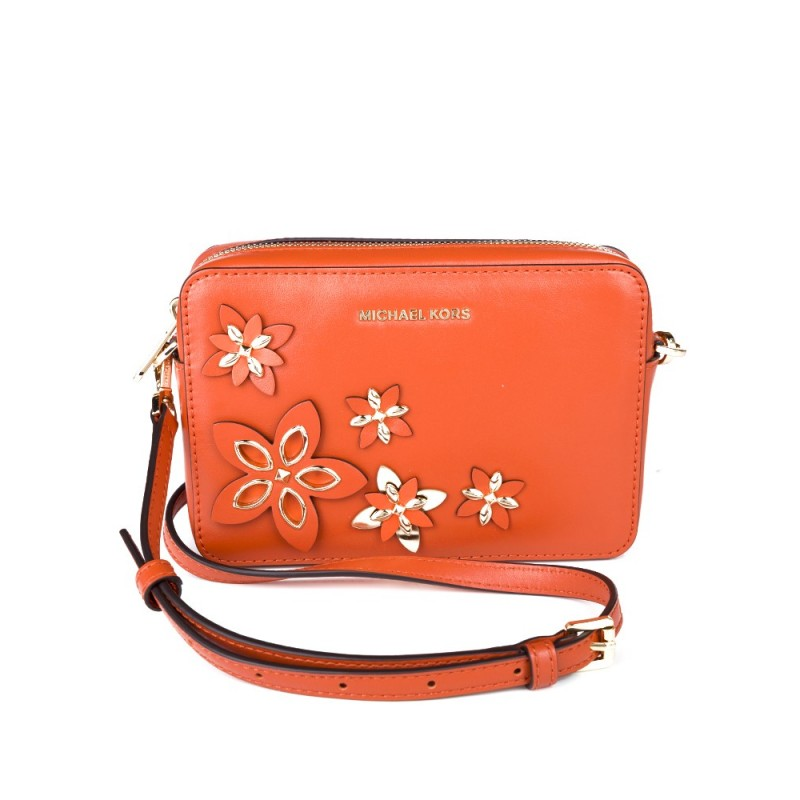 Michael Kors Orange Floral Camera Bag