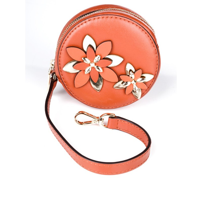 Michael Kors Orange Floral Coin Purse