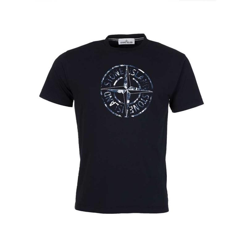 Stone Island Navy Disk Logo T-Shirt
