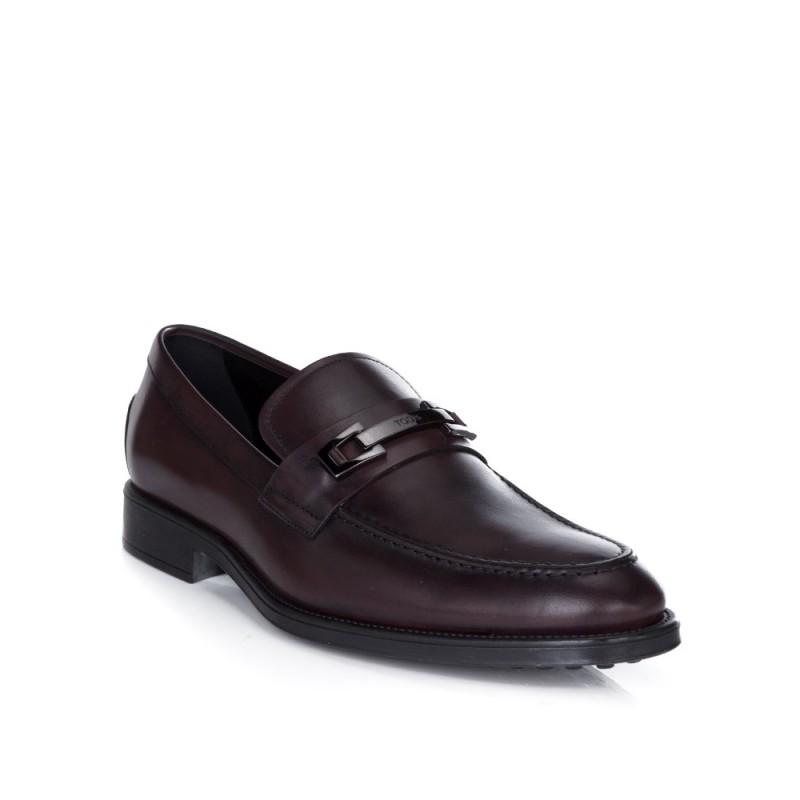 Tod's Burgundy Snaf Loafers