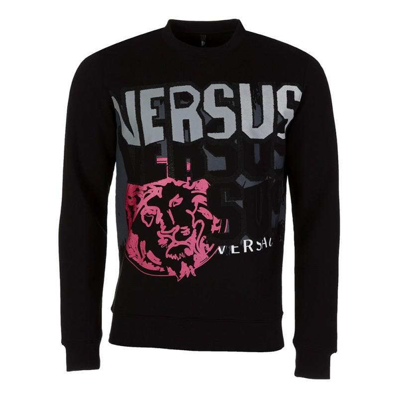 Versus Versace Black Caviar Lion Logo Sweatshirt