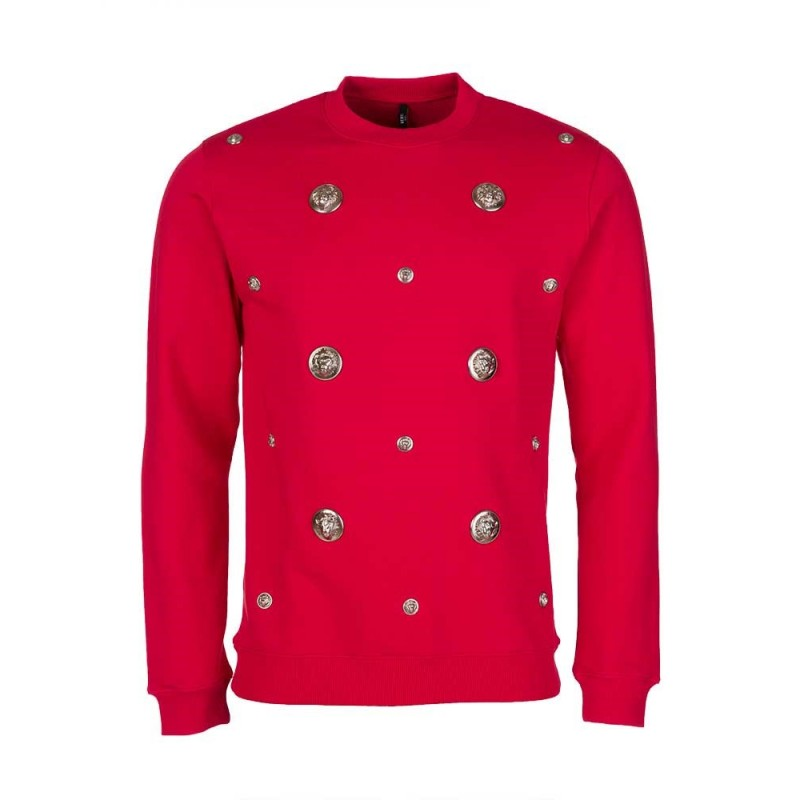 Versus Versace Red Multi Ball Sweatshirt