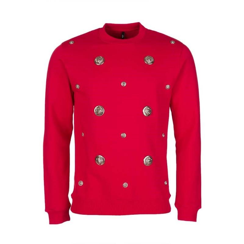 Versus Versace Red Multi Ball Sweatshirt