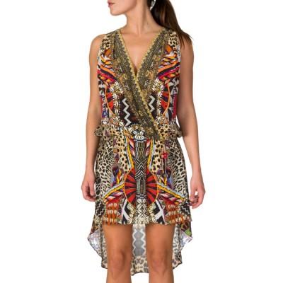 Camilla Gold Cross Over Dress
