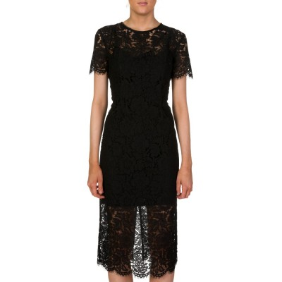 Diane Von Furstenberg Black Carly Lace Dress