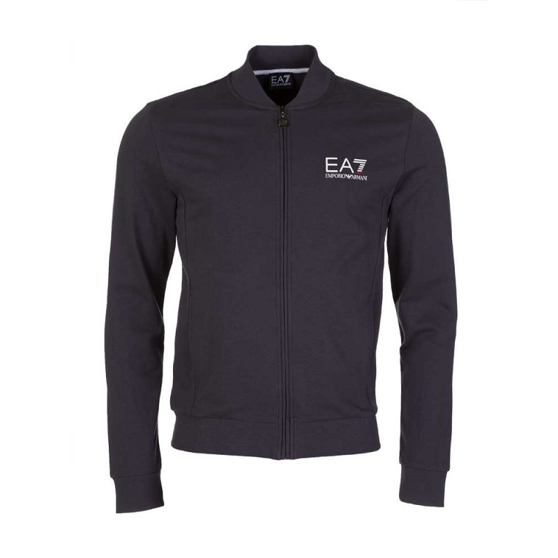 Emporio Armani EA7 Charcoal Zip Track Jacket
