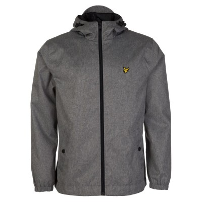 Lyle & Scott Grey Marl Hooded Jacket
