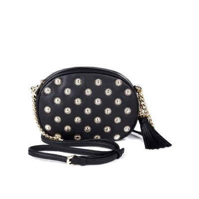 Michael Kors Black Studded Across Body Bag