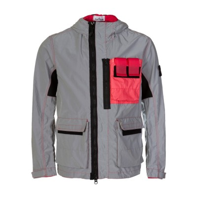 Stone Island Red Plated Reflective Jacket