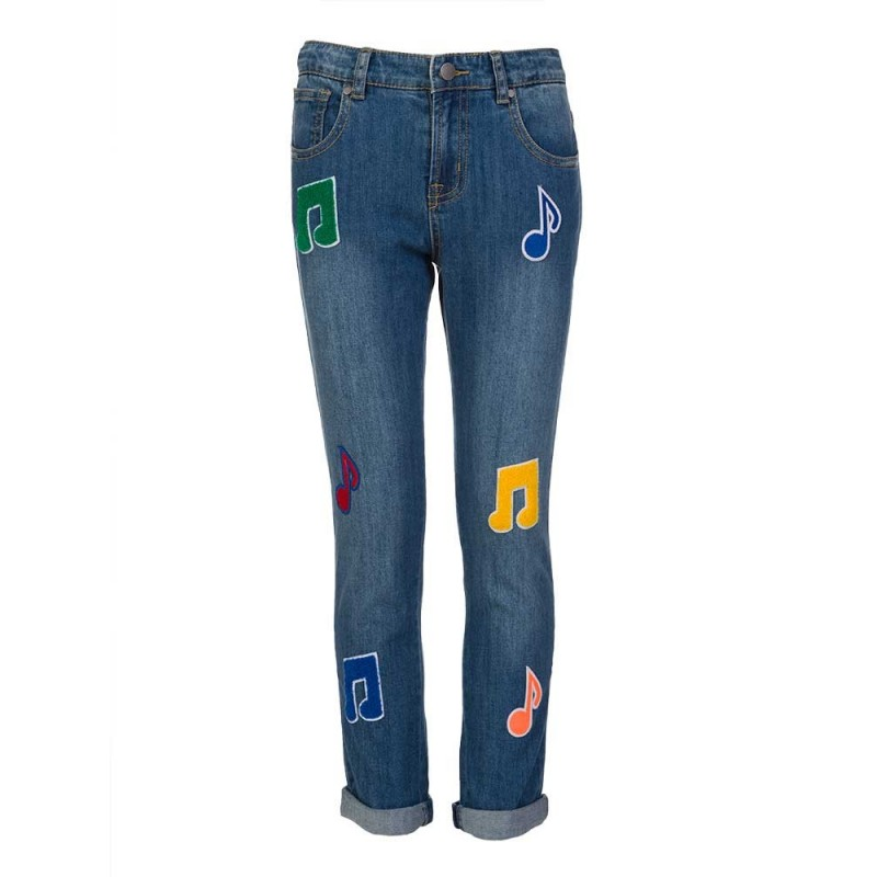 Stella McCartney Kids Blue Lohan Badge Jeans
