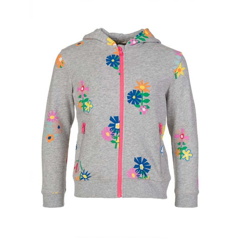 Stella McCartney Kids Grey Floral Hoodie
