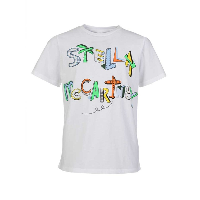 Stella McCartney Kids White Logo T-Shirt