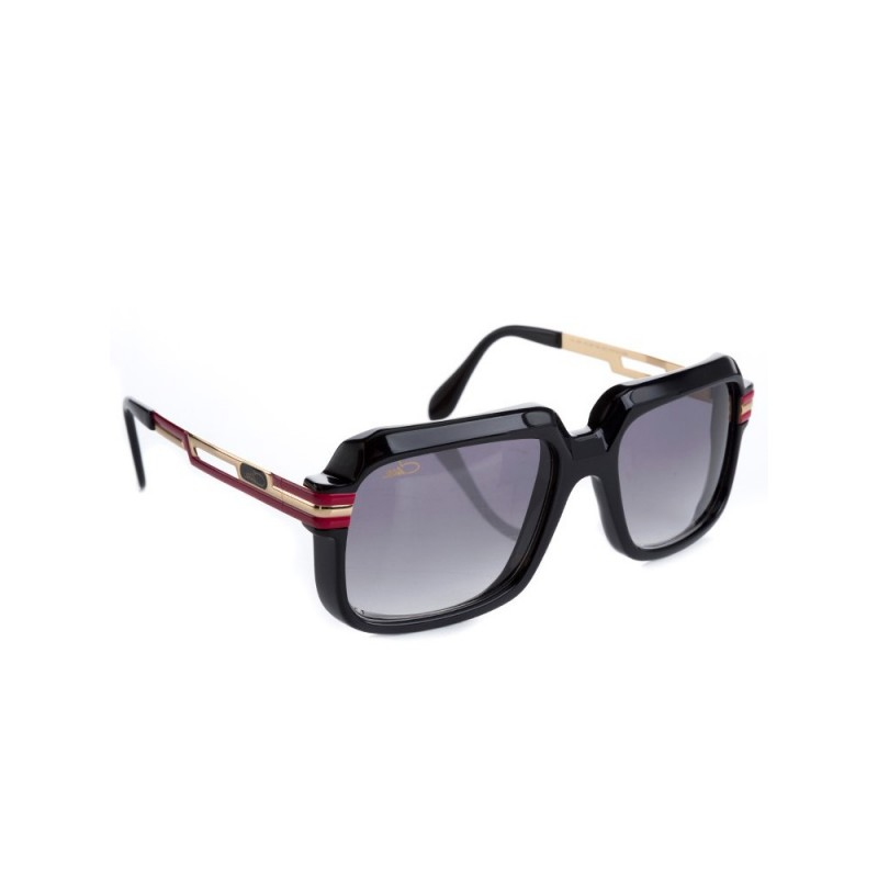 Cazal Black Red Arm Clear Lens Glasses