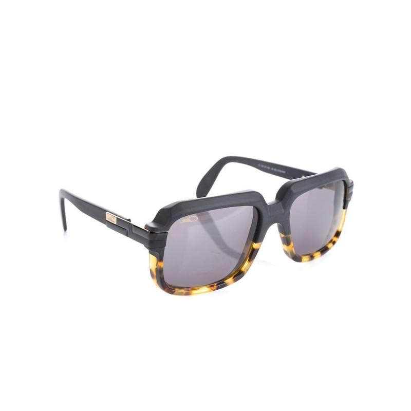 Cazal Matte Black Leopard Print Glasses
