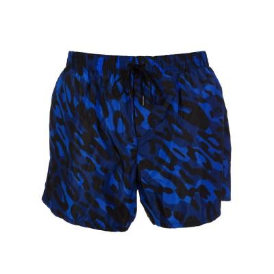 DSquared2 Navy Camouflage Swim Shorts