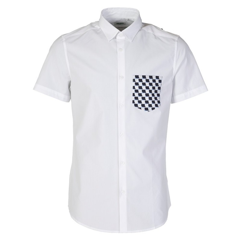 Kenzo White Printed Pocket Shirt