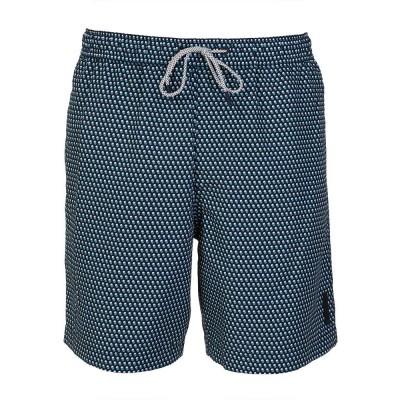 Michael Kors Navy Printed Swim Shorts