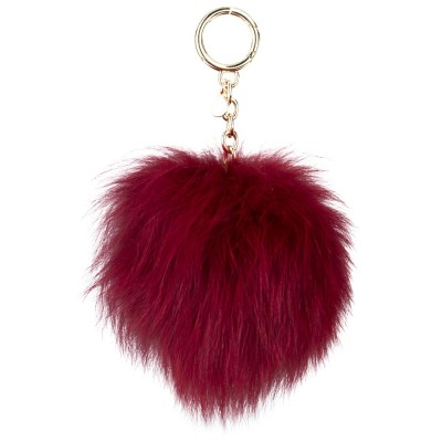 Michael Kors Red Fur Pom Pom Keyring