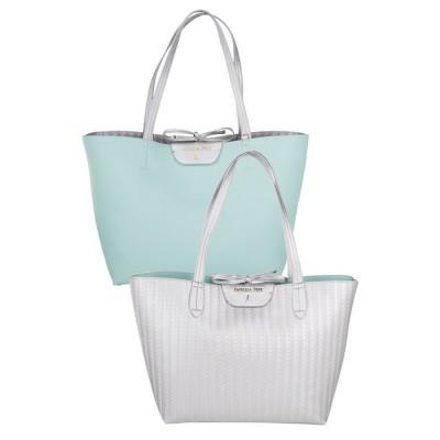 Patrizia Pepe Silver Large Reversible Shopper Bag