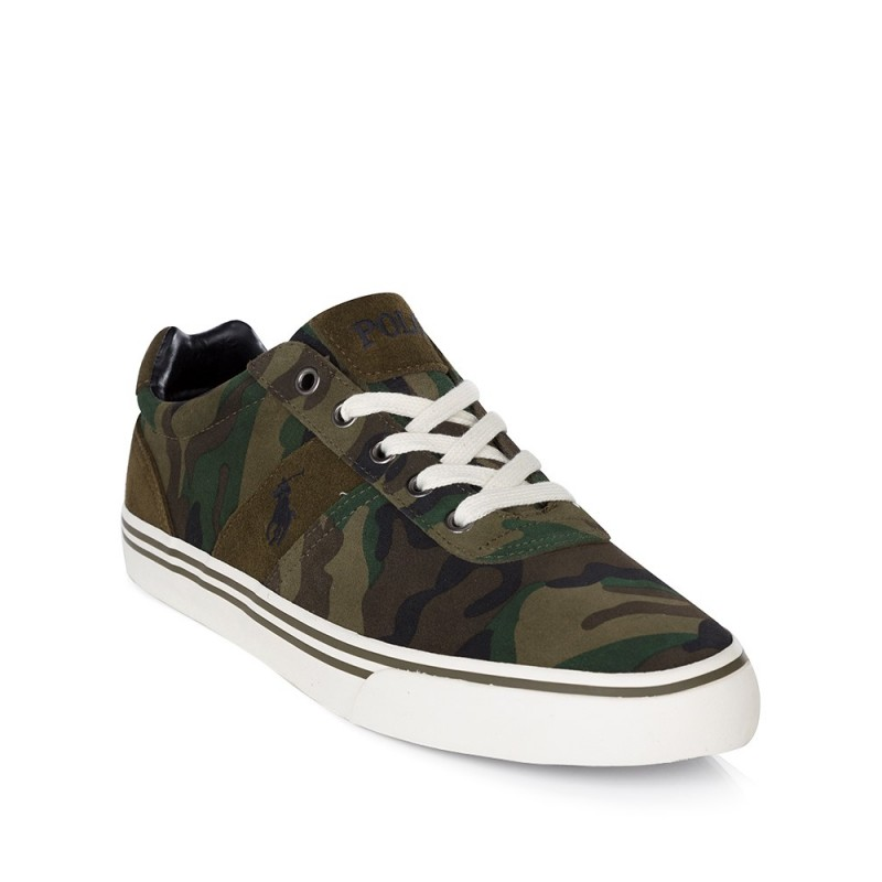 Polo Ralph Lauren Green Camouflage Hanford Trainers