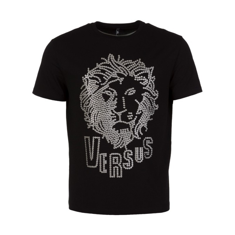 Versus Versace Black Studded Lion T-Shirt
