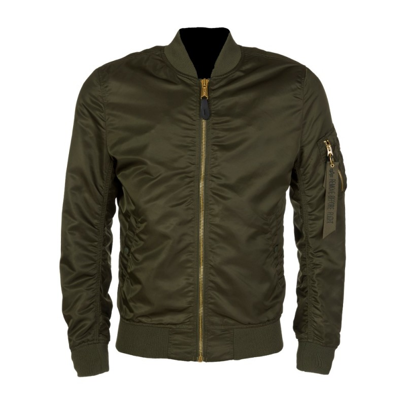 Alpha Industries Khaki MA-1 Bomber Jacket