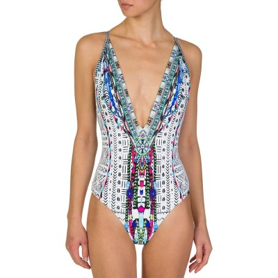 Camilla White Printed Swimsuit