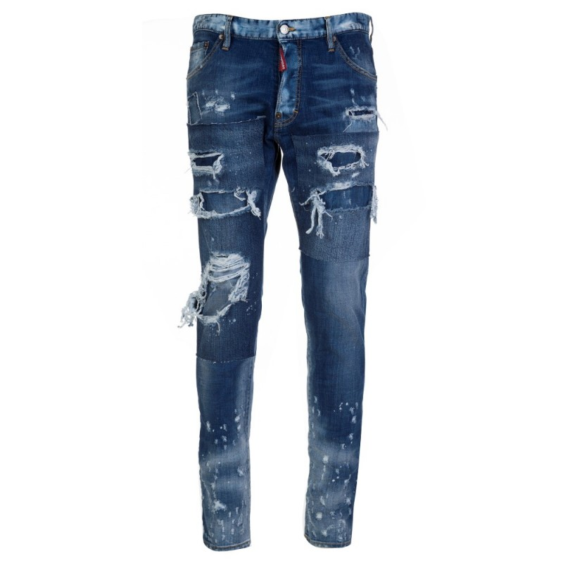 DSquared2 Stonewash Blue Ripped Cool Guy Jeans