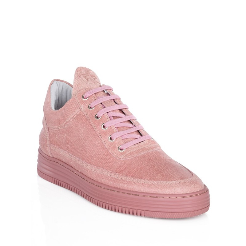 Filling Pieces Pink Low Top Monotone Stripe Trainers