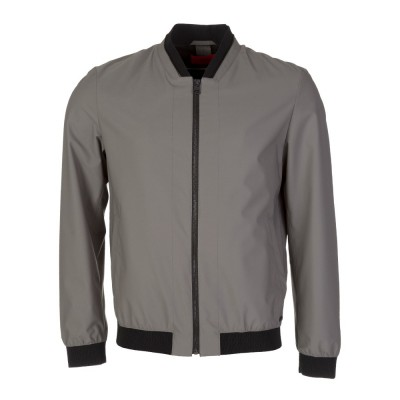 Hugo by Hugo Boss Grey Bestan Bomber Jacket