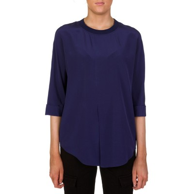 Joseph Blue Crew Neck Blouse