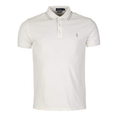 Polo Ralph Lauren Cream Custom Fit Polo Shirt