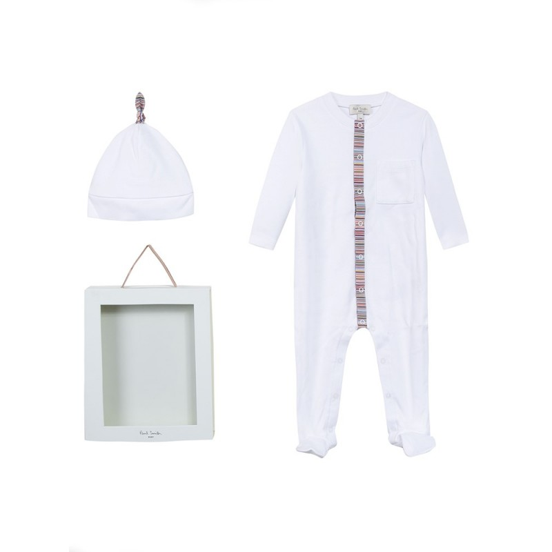 Paul Smith Baby White Babygrow Set